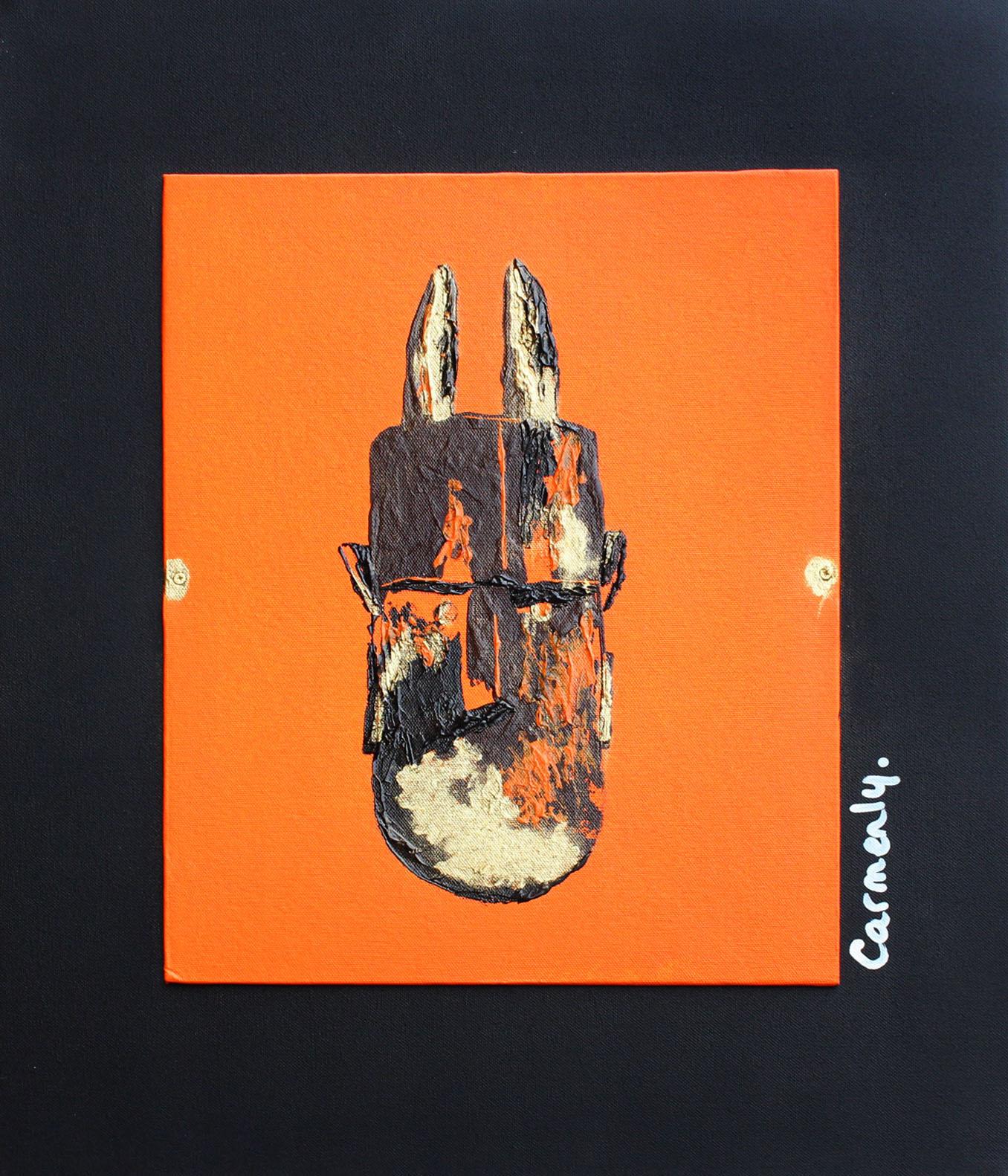 TOMA - 50x61cm - Acrylique sur toile + poudre d'or - 2009