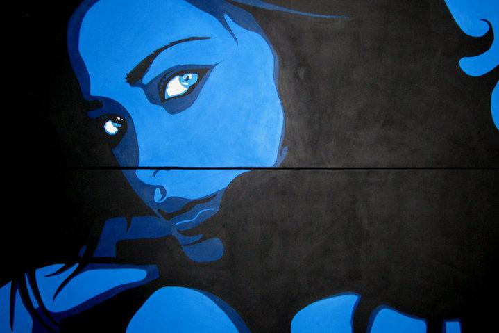 KRISTINA - 150X100cm - Acrylique - 2010 - Plus dispo