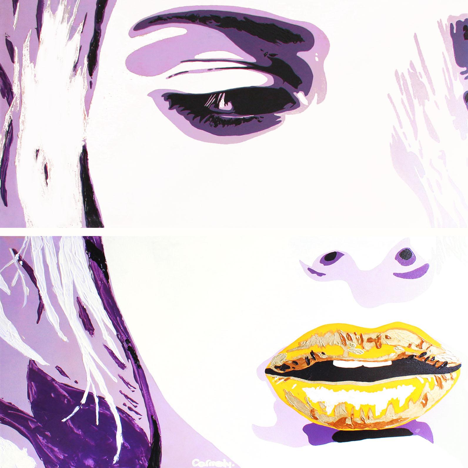 SCARLETT - 100x100cm - Acrylique et MIxte - 2010