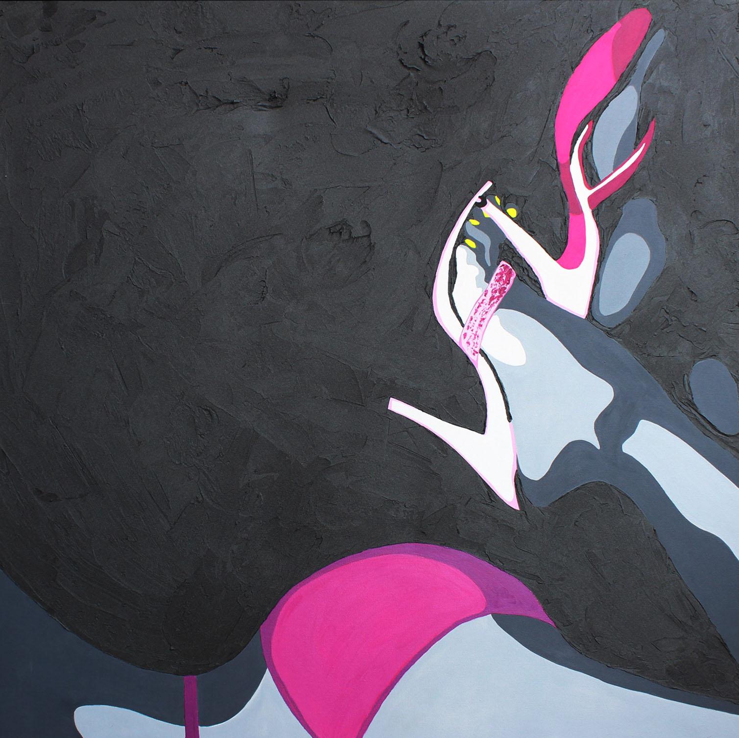 TALONS AIGUILLES - 100x100cm - Acrylique - 2009