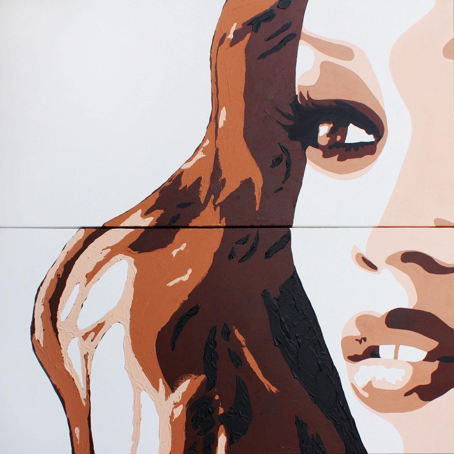 TIRA - 100x100cm - Acrylique - 2009